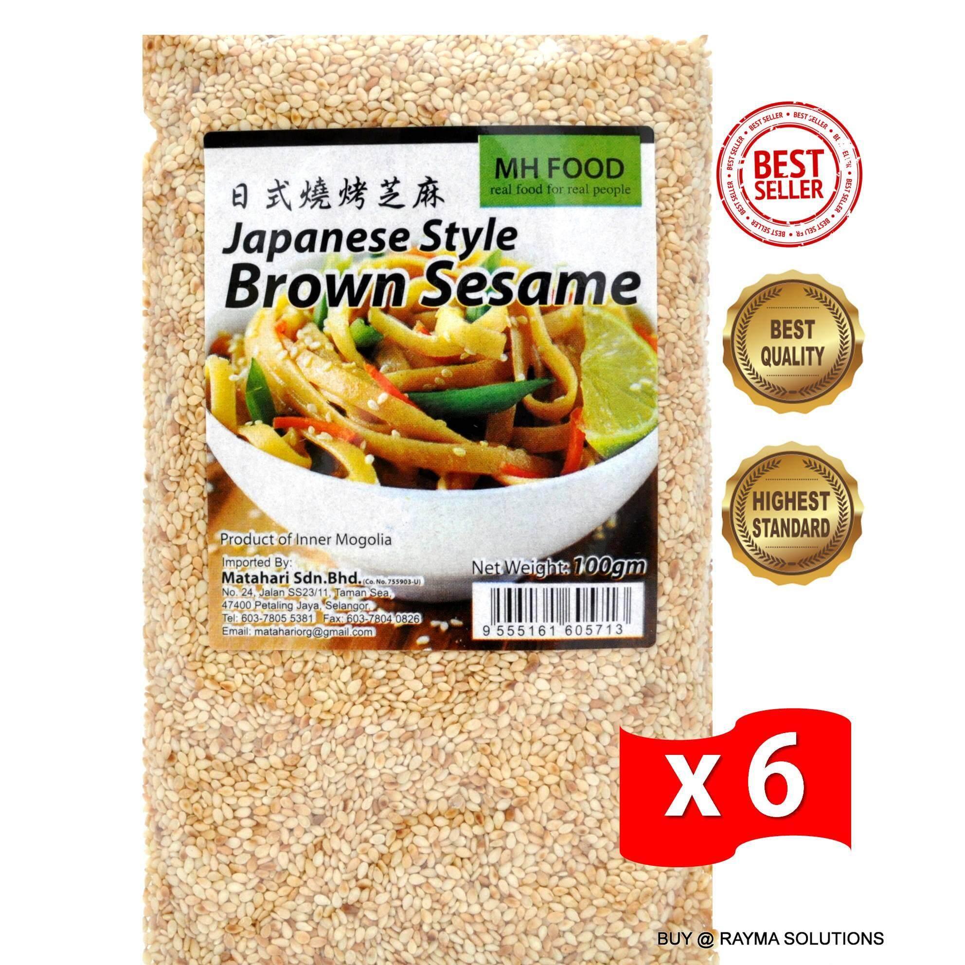 [Best Deal] MH FOOD Japanese Style Organic Brown Sesame Seed 100g (6 Packs)