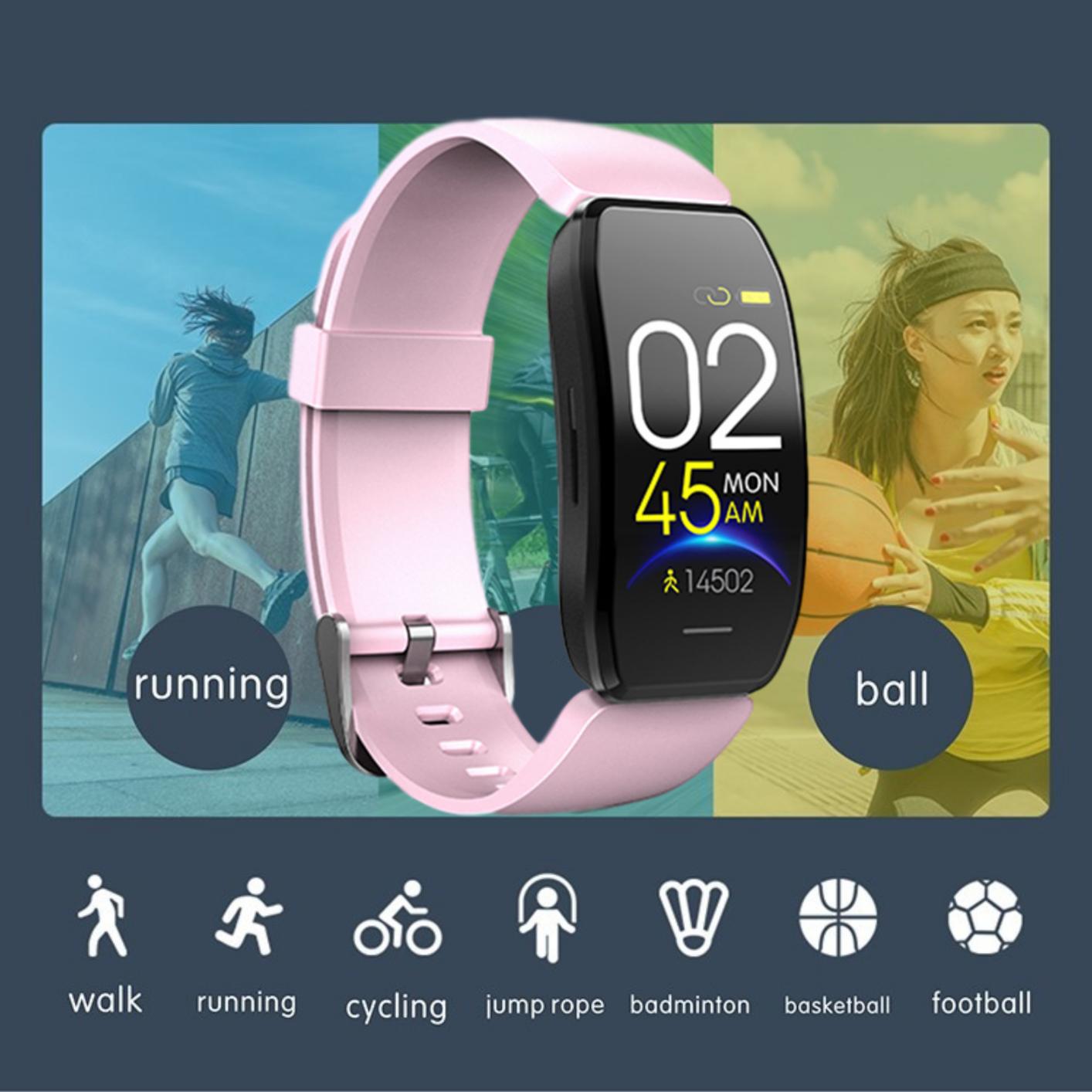 Hình ảnh Đồng Hồ Thông Minh Mới 2020, Đồng Hồ Thông Minh, Máy Theo Dõi Sức Khỏe, Máy Đếm Bước Chân, Màn Hình Màu, Cảm Ứng, Vòng Đeo Tay Thông Minh, Thích Hợp Cho Nền Tảng Android Và IOS