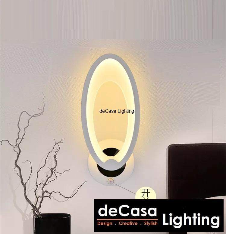 Modern LED Creative Design Wall Light Decasa  Concept LED Wall Lamp Warm White (NSB-ZW803-OVAL)