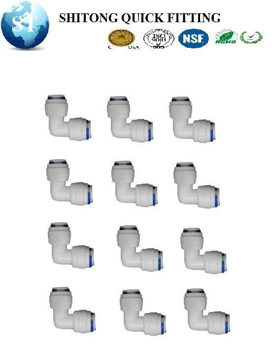"""WATER FILTER RO FITTING QUICK FITTING QUICK CONNECT L FTTING ELBOW 1/4"""" X 1/4"""" OD L TYPE ADAPTOR ( 12PCS/BOX )"""