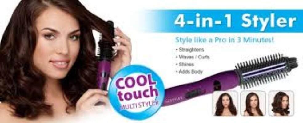 4 in 1 InStyler Ionic Styler Pro Hot Brush Ceramic Hair Straighten Curl