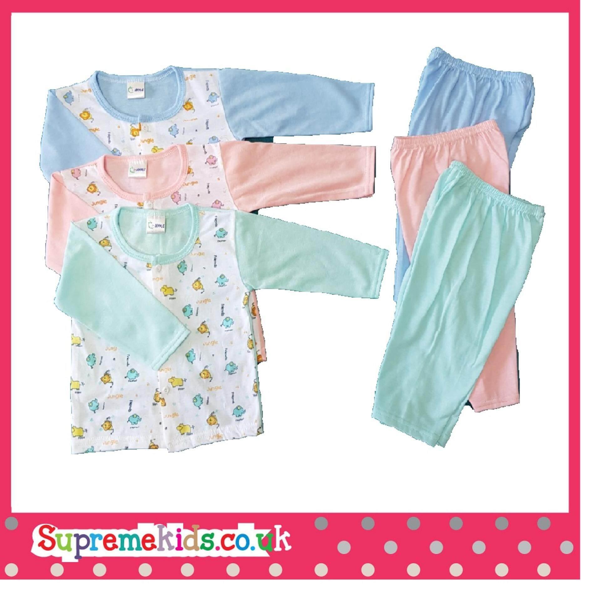 Newborn & Baby 3 SET Pajamas Bundle Sales (Fit to Age: 6-18Mth Mass:8-12kg Height:69-80CM)