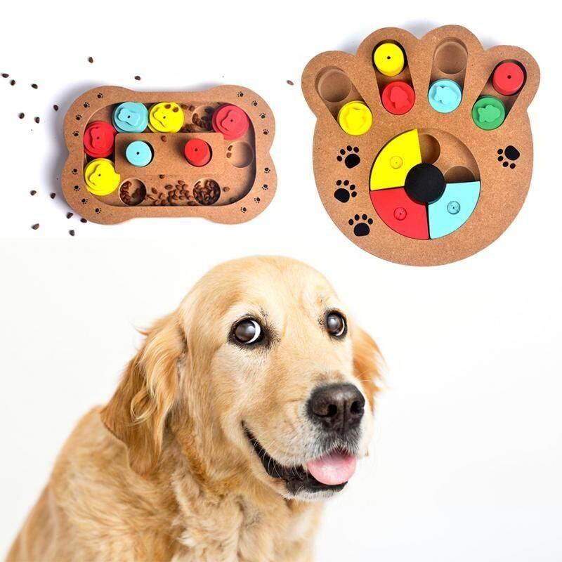 Clothes & Toys - Dogs and Cats Food Treated Wooden Toy Eco-friendly Puppy Pet Bone Paw Puzzle Toy - [STYLE 1 / STYLE 2]