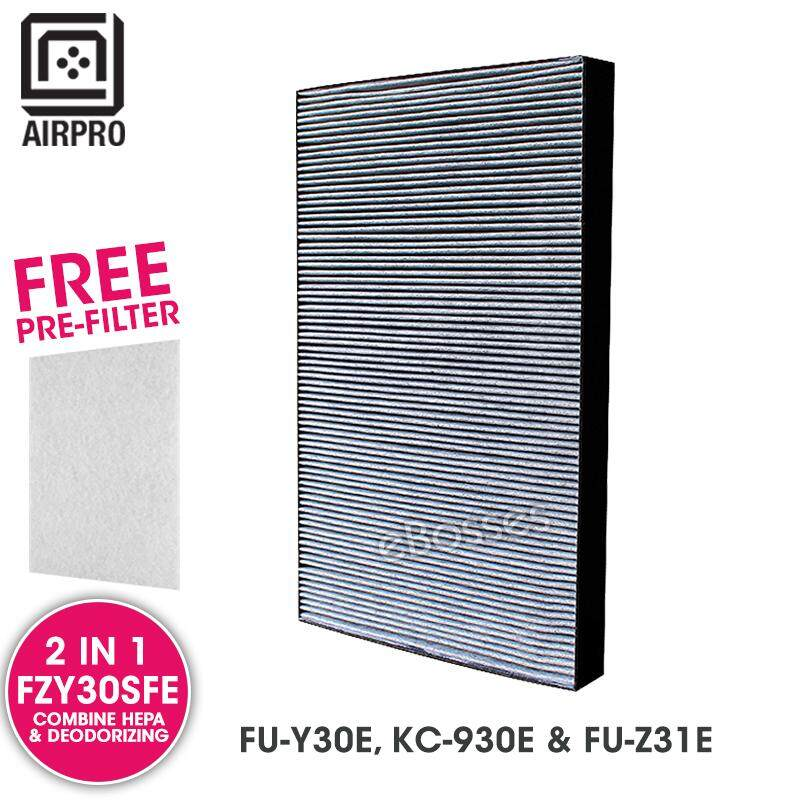 AIRPRO for Sharp FZY30SFE Replacement Air Purifier Combine HEPA Deodorizing Filter for FU-Y30E, KC-930E & FU-Z31E