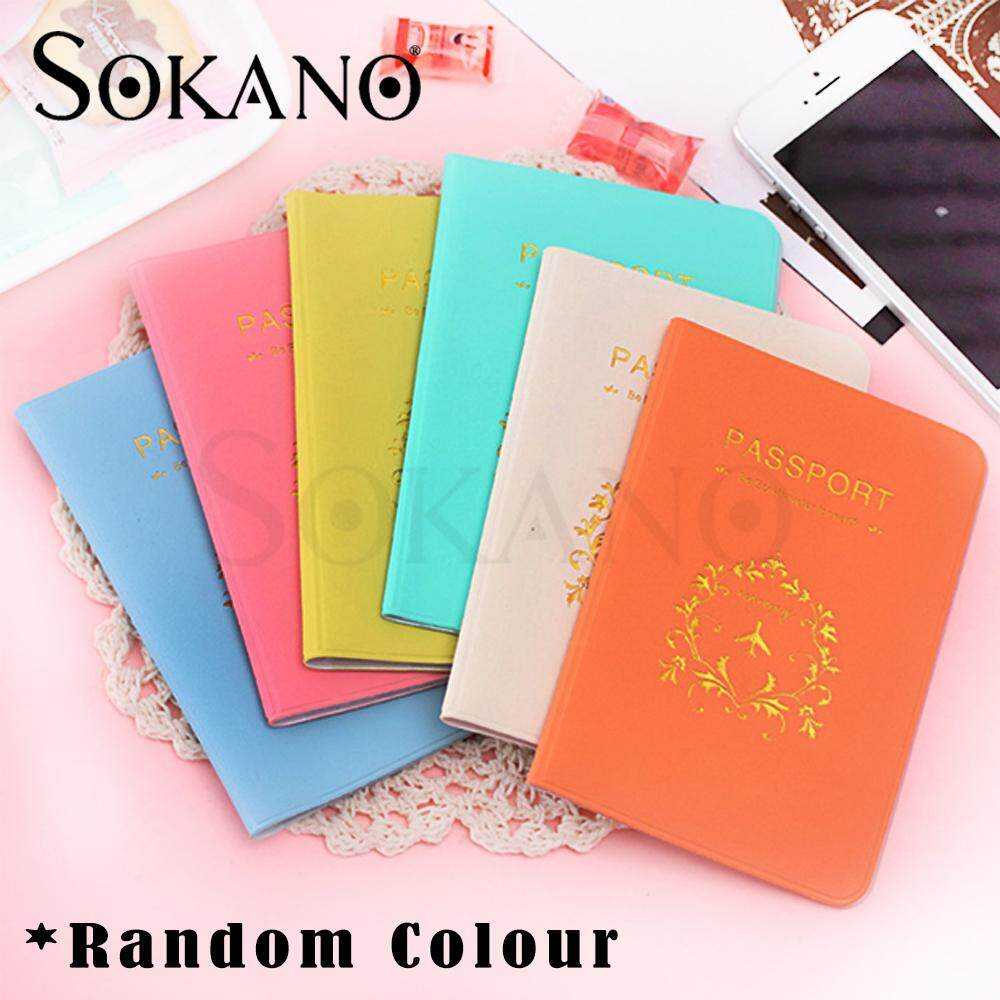 (RAYA 2019) Sokano Passport Holder Organizer Travel Card Case Document Cover ( Random Colors )