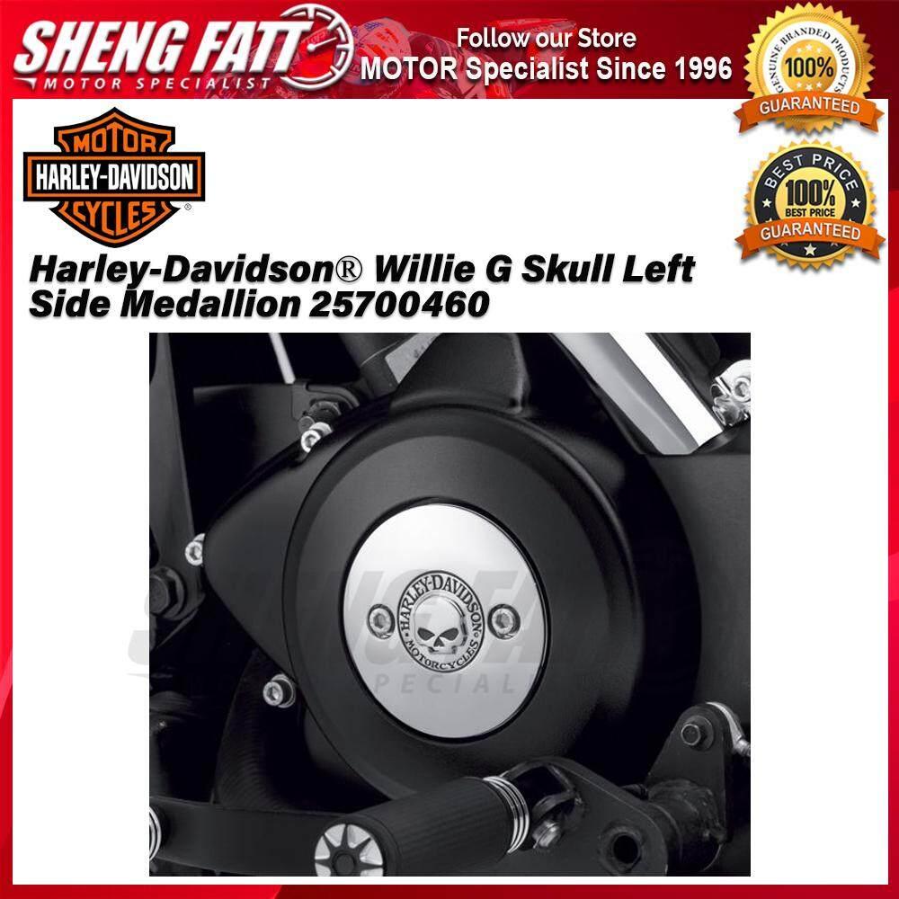 Harley-Davidson® Street™ Family Willie G Skull Left Side Medallion 25700460