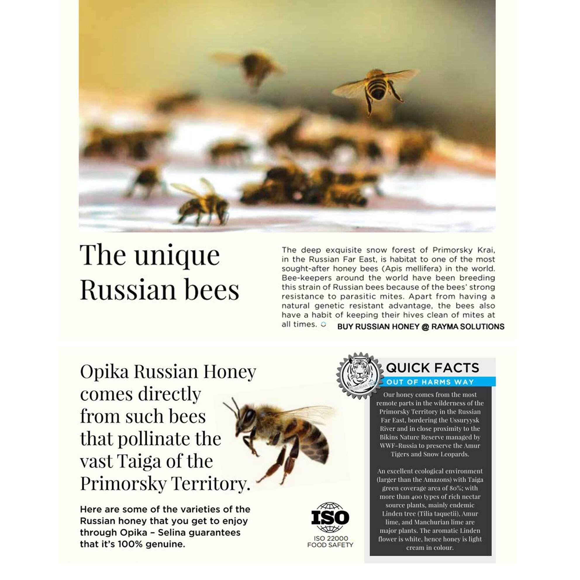 OPIKA Multi Floral Russian Honey 280g (Twin Pack)