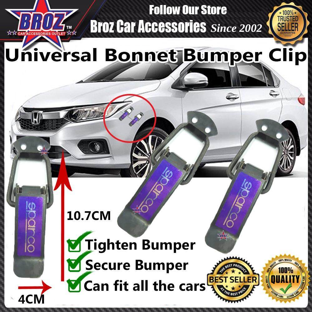 Universal Car Bonnet Bumper Clip BIG - SPARCO BLACK