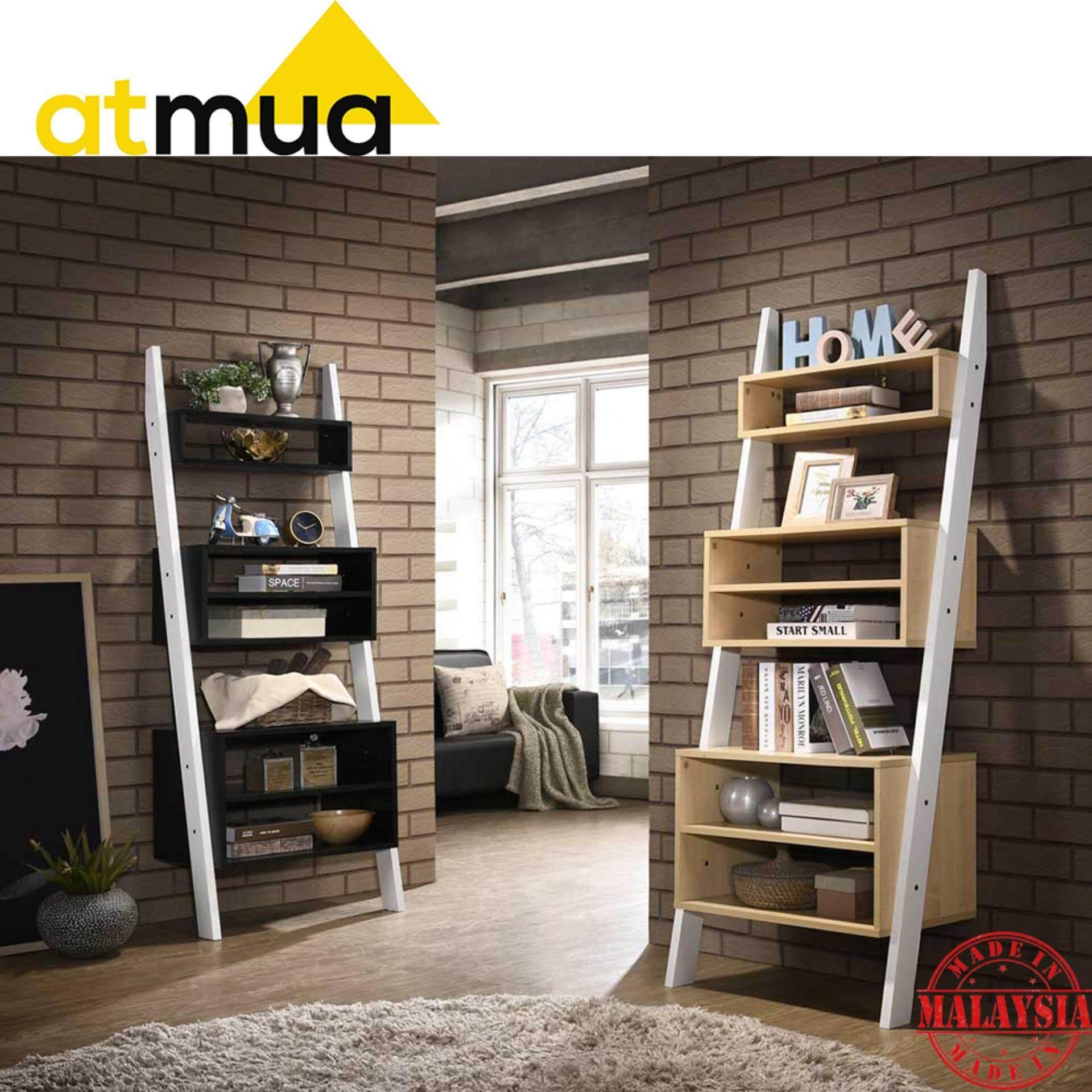 Atmua Chin Ladder Storage Rack Display Cabinet (Modern Design) [Particle Board]