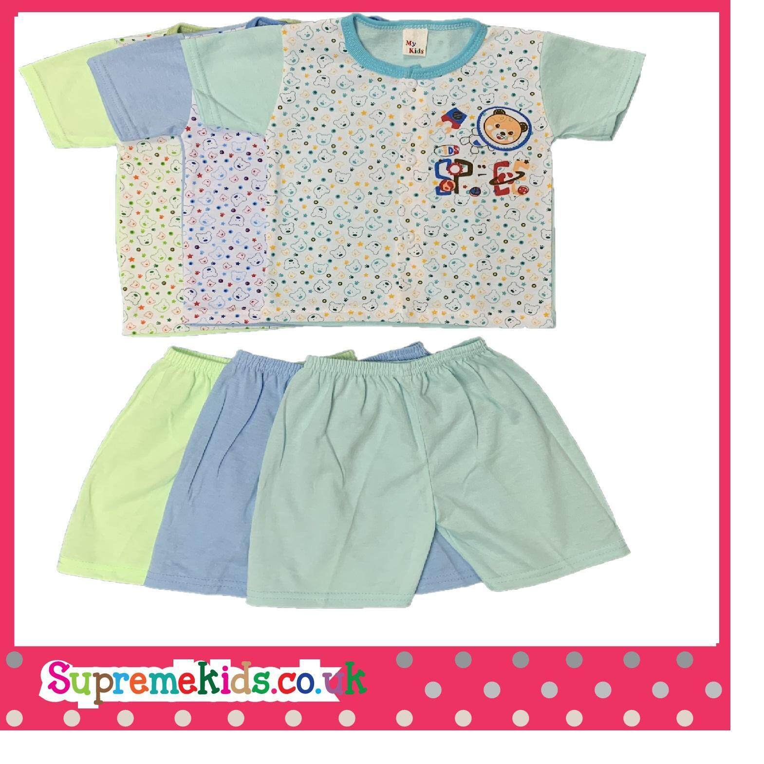 6Pcs NewBorn & Baby Casual wear Bear Design SSSP