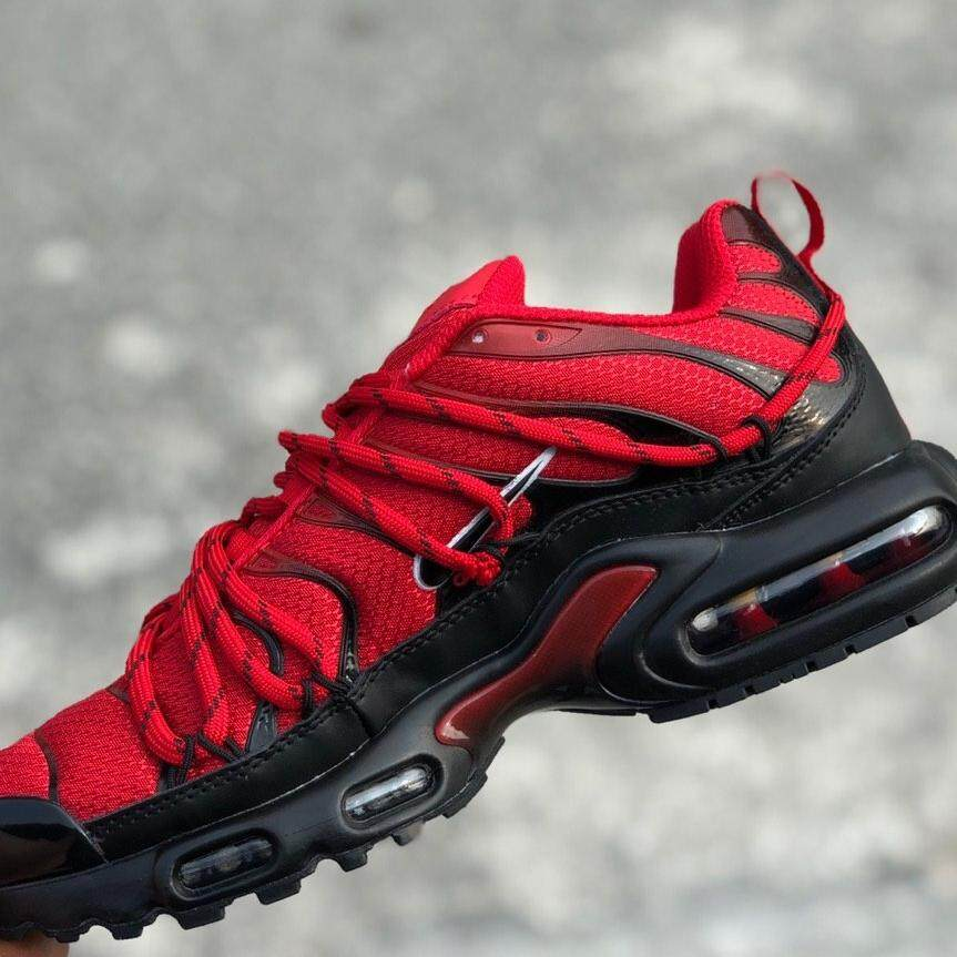 sports shoes 75709 cff9d  READYSTOCK  NIKE AIRMAX PLUS DRAKE CUSTOM RED BLACK  40-44 EURO
