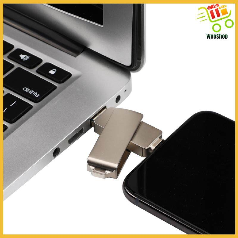 64GB 3-in-1 Flash Drive USB3.0 Memory Stick OTG U-Disk for iPhone PC Android