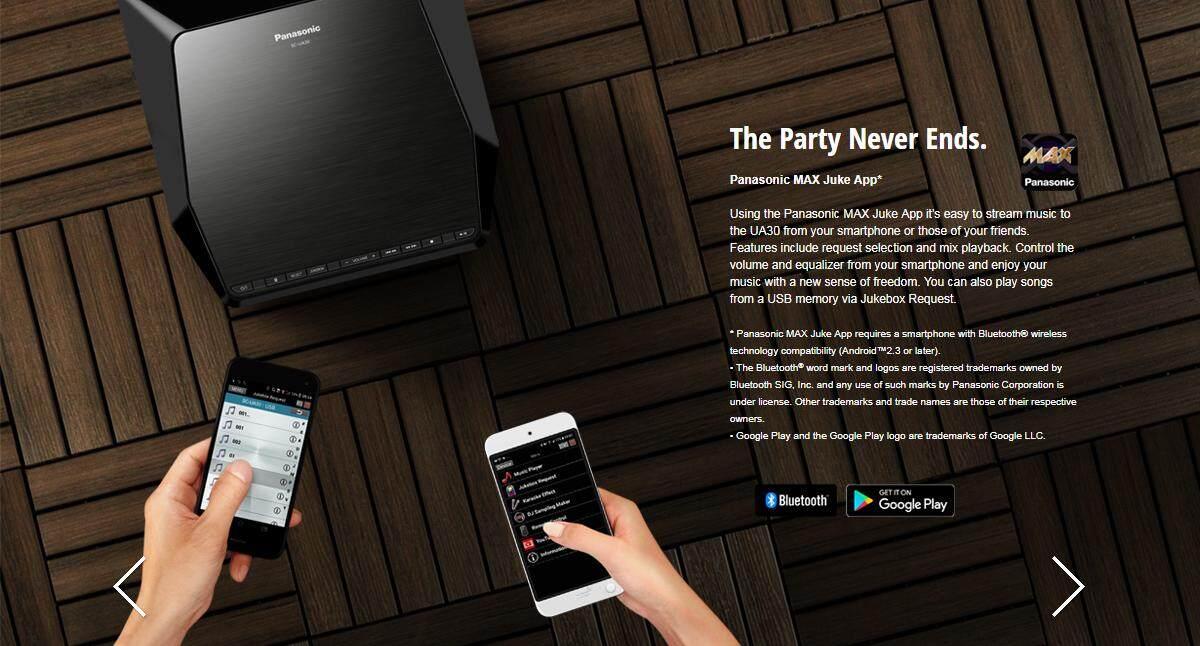 Panasonic Urban Audio SC-UA30GSXK Karaoke / Jukebox / HIFI Speaker /  Bluetooth