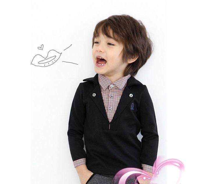 New Comfortable Long Sleeve Baby Boy Shirt Tops For Spring Autumn Cotton Blends