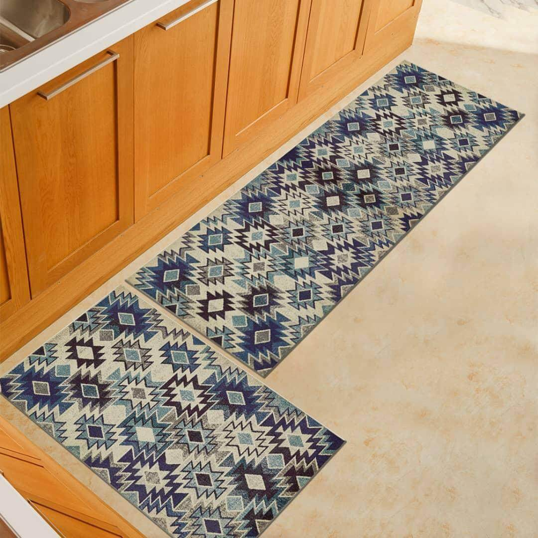 Kitchen/Bathroom Multicolour Floor Mat (Anti-Slip)