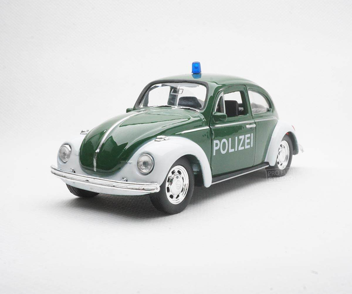 Welly VOLKSWAGEN Classical Beetle Police 1/36 1/32 1/34 Diescat Car model Green