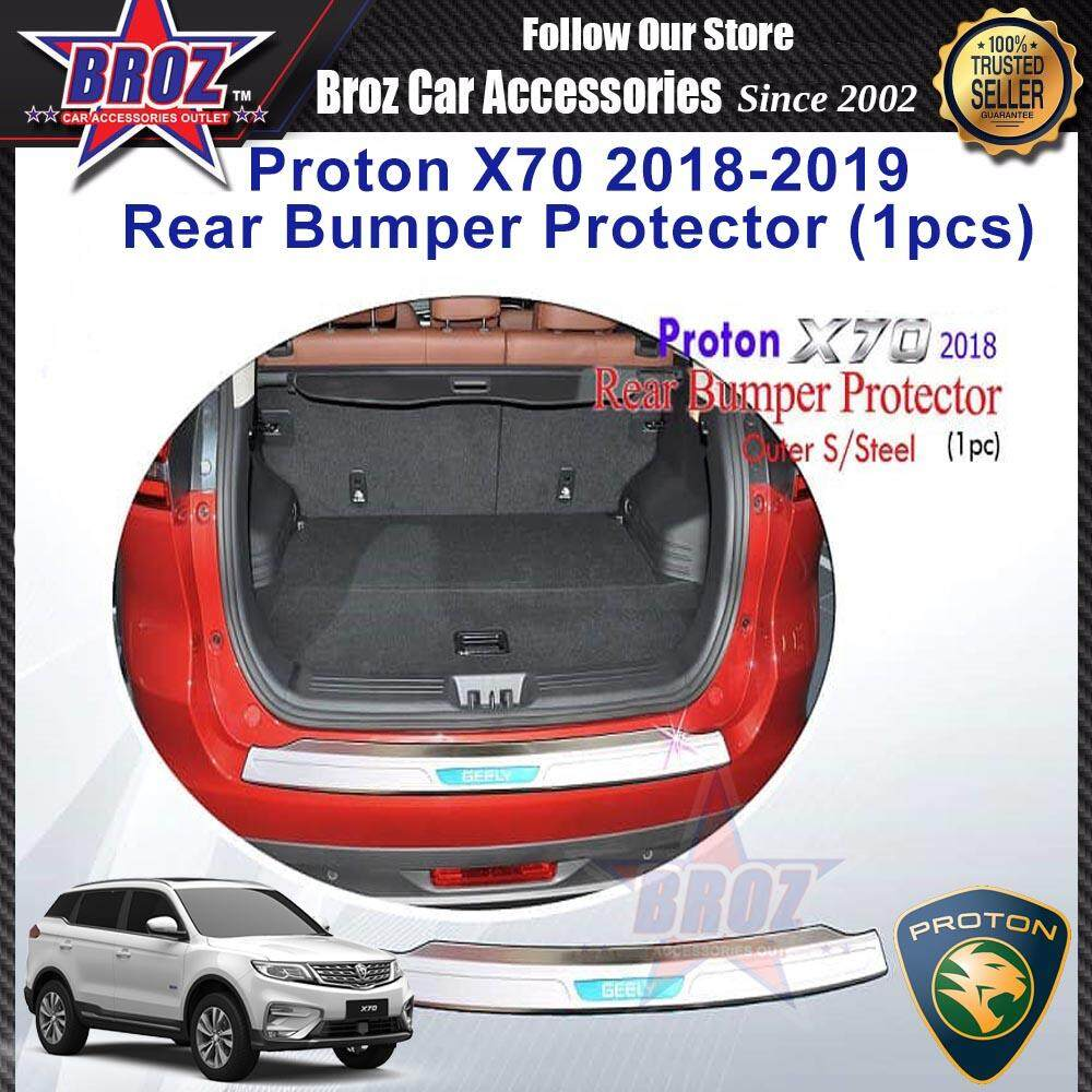 Proton X70 2018-Present Rear Bumper Outer Protector Stainless Steel (1 Pcs)