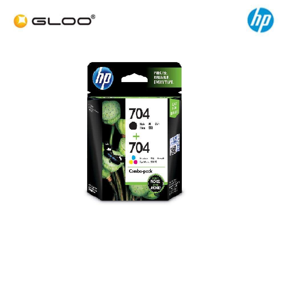 HP 703 Combo Pack Black/Tri-Color Original Ink Advantage Cartridge F6V32AA
