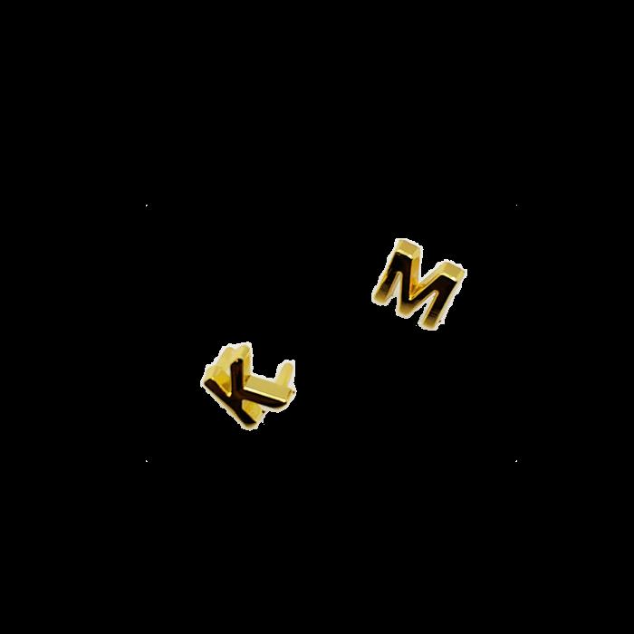 Hình ảnh MK Túi Xách Phụ Kiện Kim Loại Logo Thư Phần Cứng Túi Đánh Dấu M Lây Lan Từ Tiếng Anh Nhãn Hiệu Gói Phần Bảo Trì