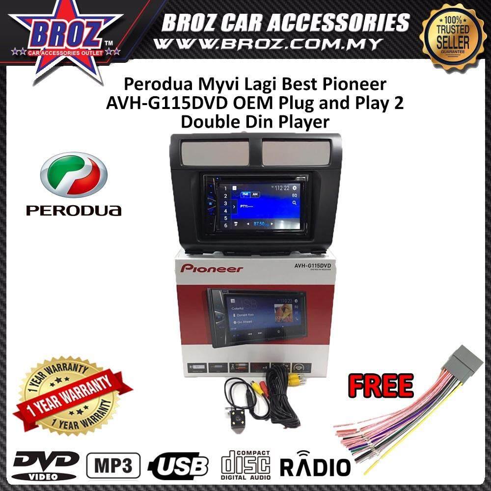 """Perodua Myvi Lagi Best Pioneer AVH-G115DVD OEM Plug and Play 6.2"""" Double Din XNRC PIONEER COLOR"""