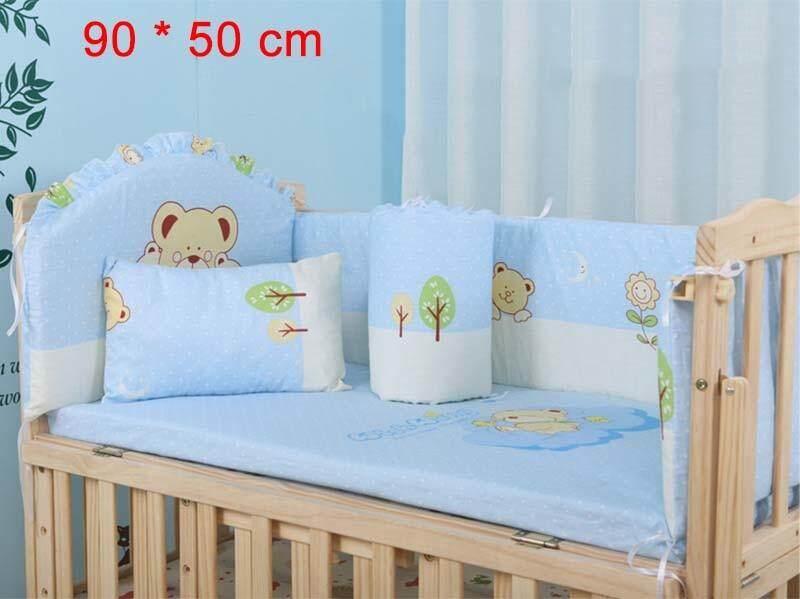 5 cái/bộ Hoạt Hình Hoạt Hình Giường Cũi Ốp Lưng Cho Trẻ Sơ Sinh 100% Cotton Thoải Mái Giường Trẻ Em Bảo Vệ Bé Có Thể Rửa Được Bộ Chăn Ga