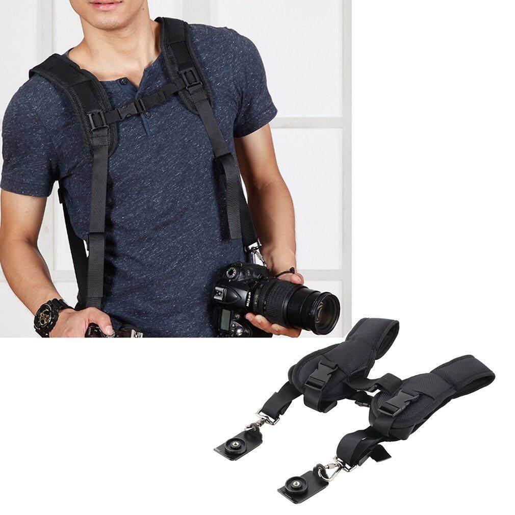 Double Dual Shoulder Neck Strap Sling Belt For Digital SLR DSLR Camera