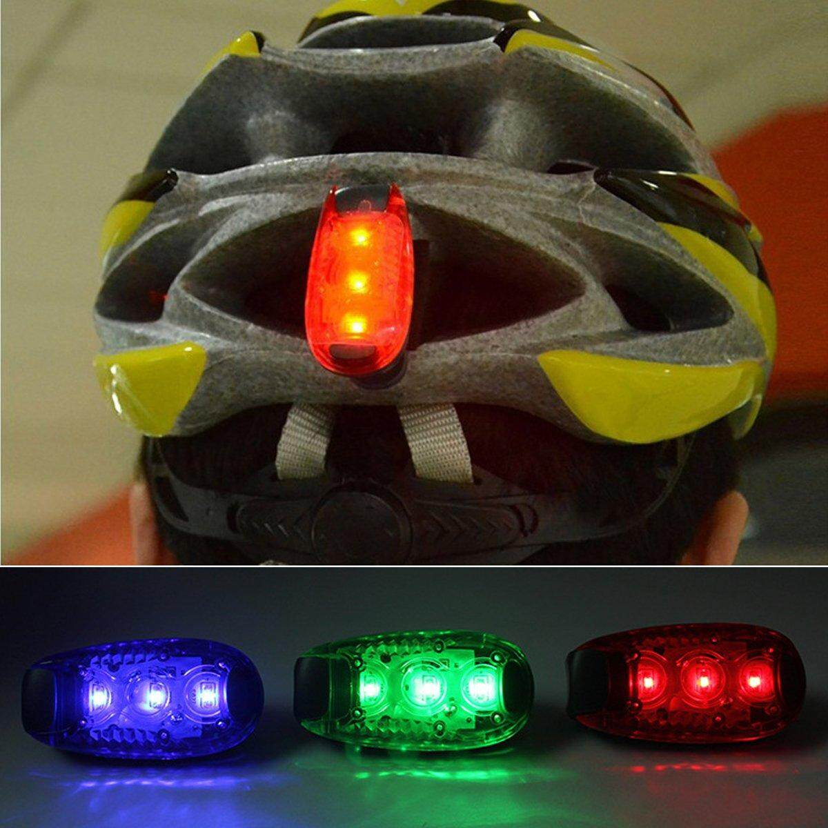 LED Light Up Safety Clip on Running Jogging Night Bike Bicycle Rear Light New