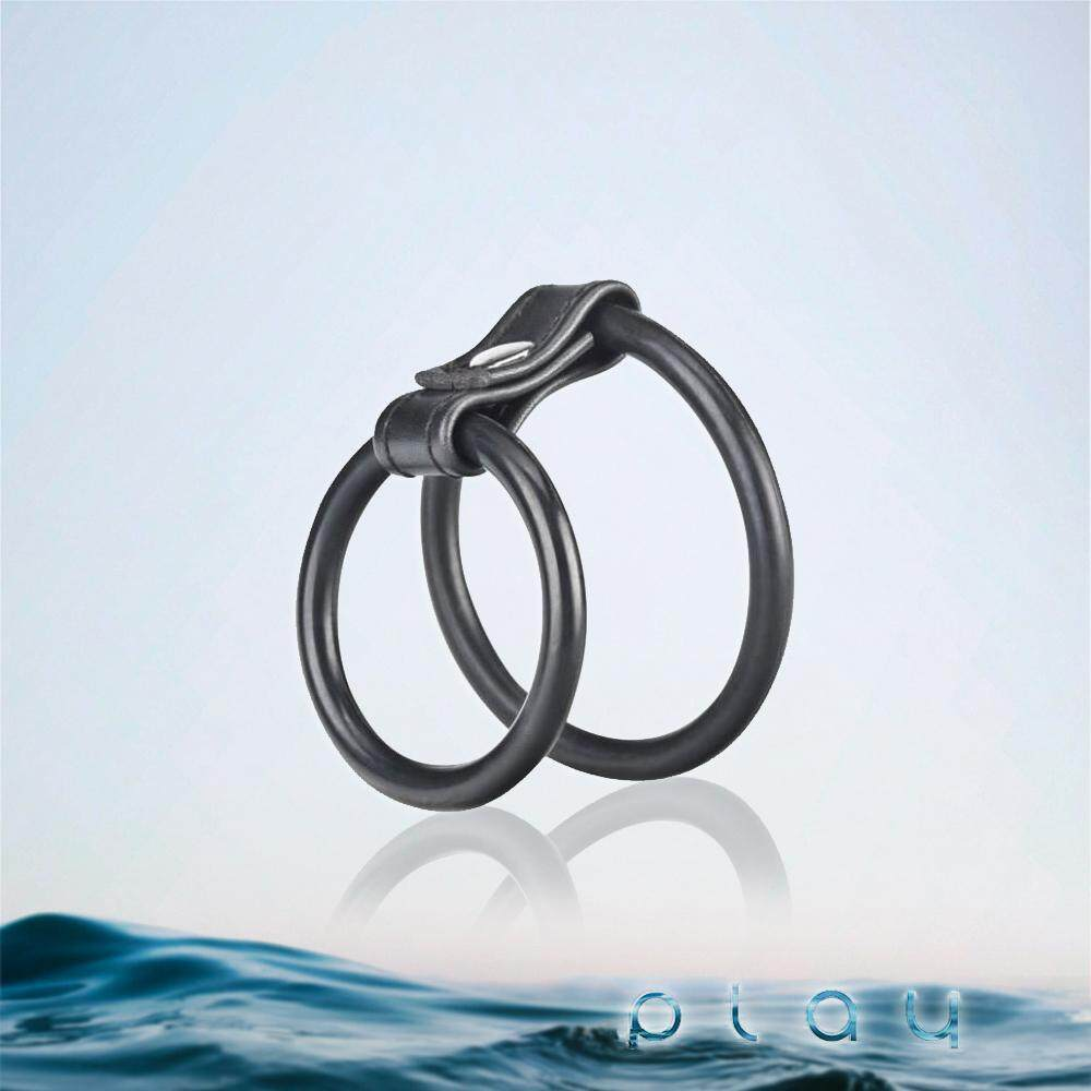 (KL Ready Stock) Men Dual Silicone Penis Delay Ring Double Cockring