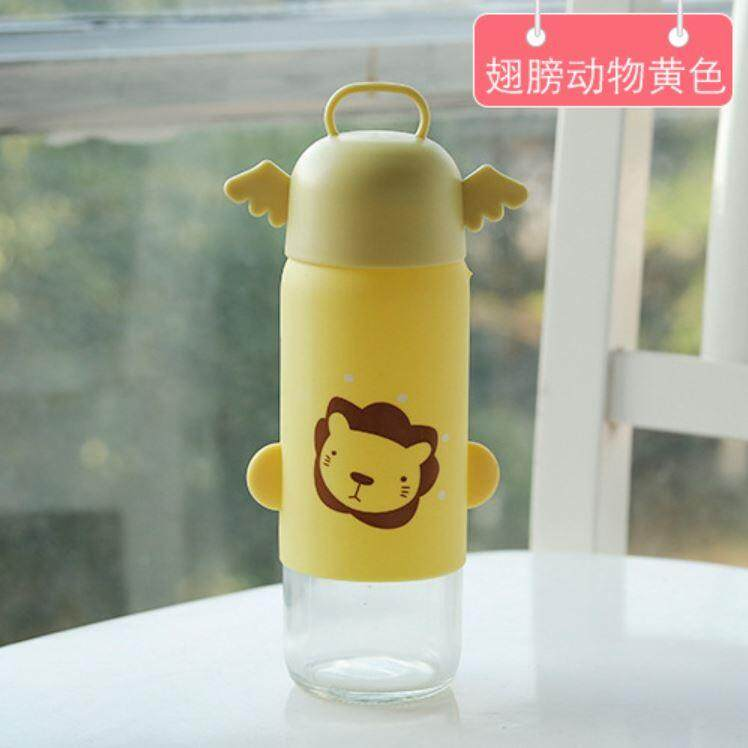 Creative Cute Character Rubber Glass Bottle ACC-054
