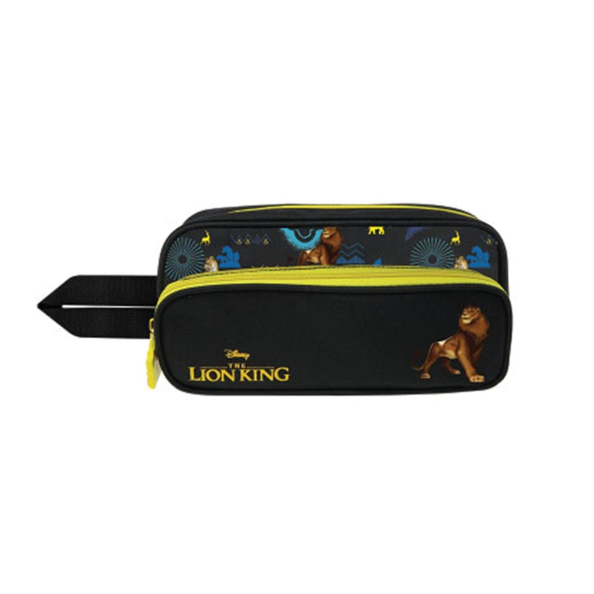 Disney The Lion King Pencil Bag With Front Pocket - Black Colour