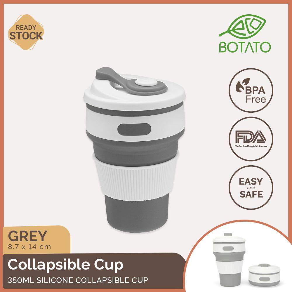 ([Ready Stock] Eco.Botato SILICONE COLLAPSIBLE CUP BPA Odor Free Food Grade Outdoor Travel Coffee Drinkware 350ml Nordic Style Reusable Foldable Folding Flexible Portable Microwave safe Eco Friendly)