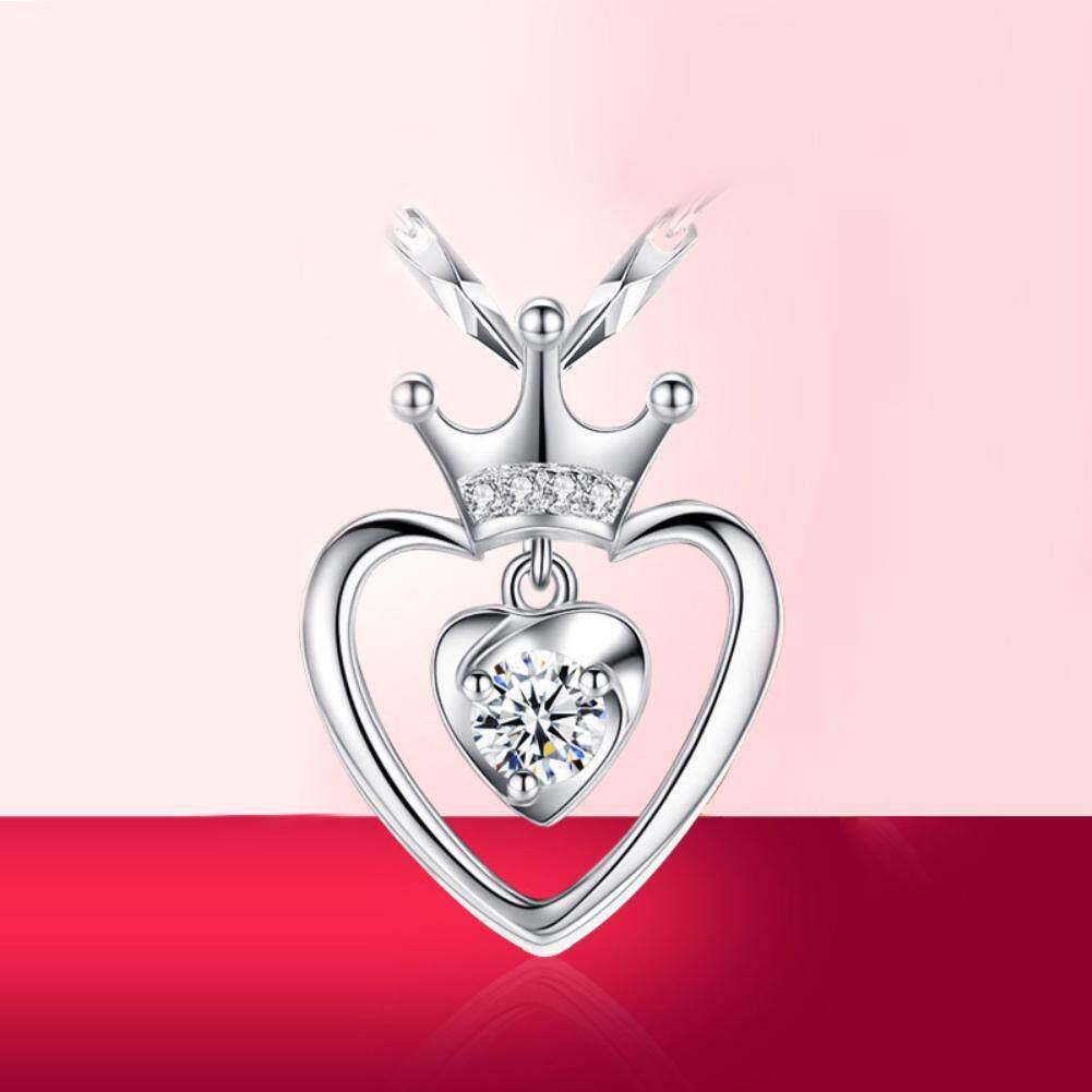 ... Elegan Wanita Berlian Imitasi Berongga Peach Jantung Crown Pendant Hari Kasih Sayang Hadiah - 4 ...