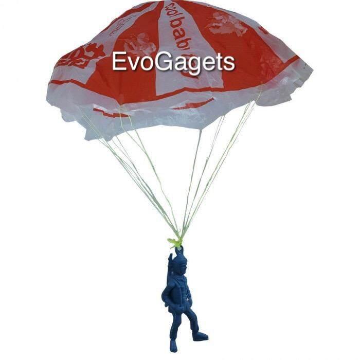 EvoGadgets Classic Toy - Airborne Assault Paratrooper Parachute Toy x 4 set (Random Colour)