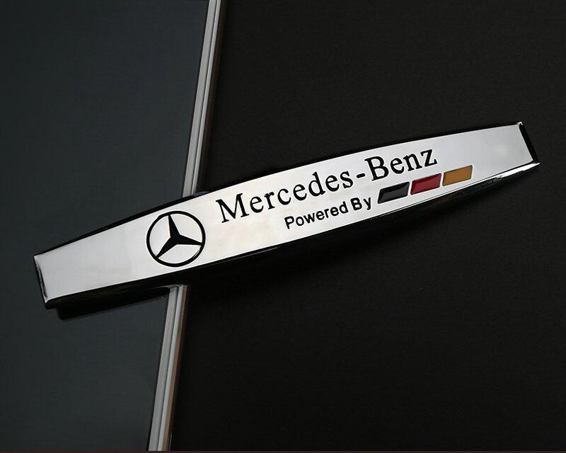 2PCS Merceds Benz AMG Car Trunk Side Fender Metal Emblem Badge Sticker Decal RED