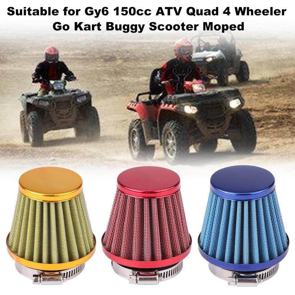 Engine Parts - 44mm Air Filter for Gy6 150cc ATV Quad 4 Wheeler Go Kart  Buggy Scooter Moped - [RED) / (BLUE) / (GOLD)]