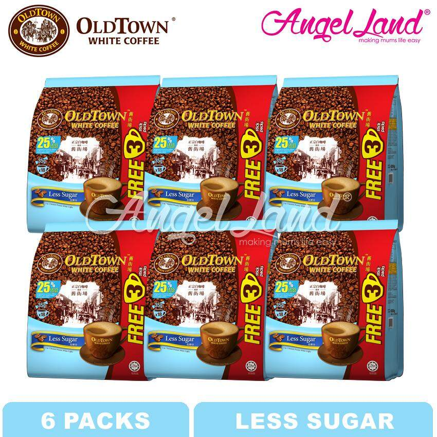 OLDTOWN White Coffee 3-in-1 Less Sugar Instant Premix White Coffee (15'S+3'S X 6 packs)