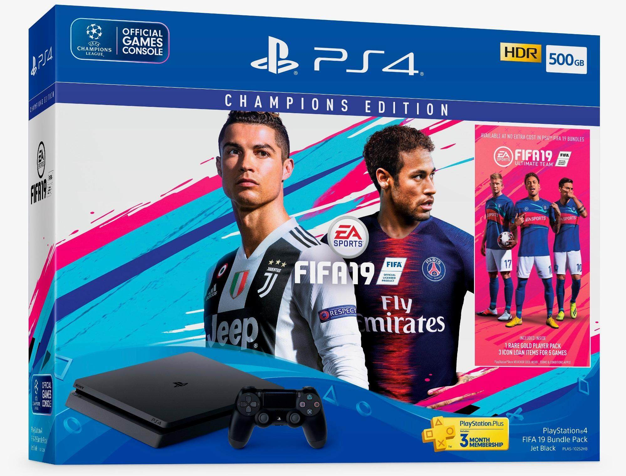 Sony PlayStation 4 PS4 Slim 500 GB FIFA 19 Bundle (Sony Malaysia Warranty)