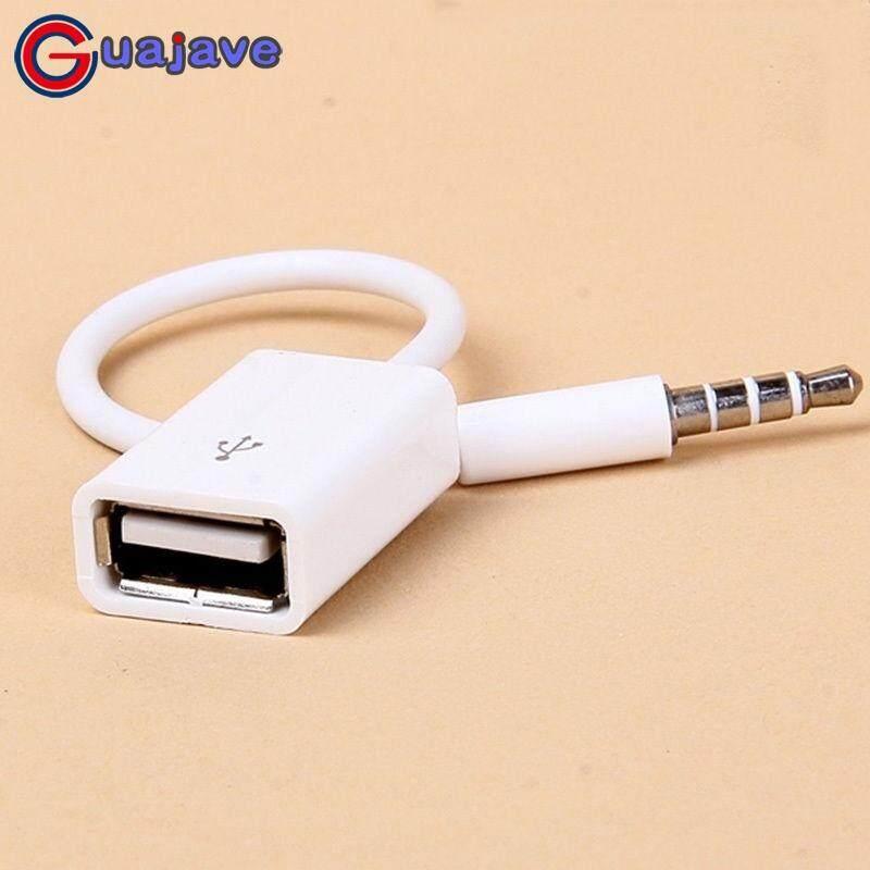 Guajave Mobil 3.5 Mm Aux Colokan Audio Jack USB untuk USB 2.0 Female Kabel Konversi Kabel