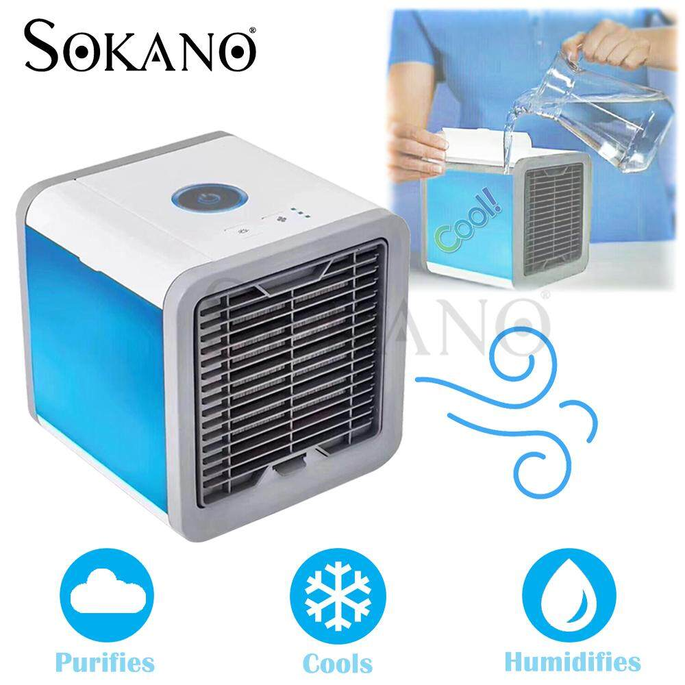 SOKANO Arctic Air Personal Space Cooler Air Conditioner Humidifier 3 Speed LED Night Light Air Cooler Fan
