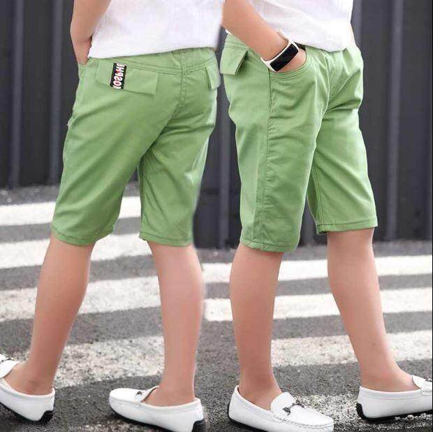 Kids Boy Short Pant Cropped Pant - Green