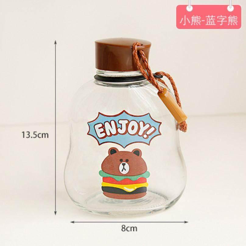 300 ml Cute Glass Flamingo Bear Water Bottle ACC-051