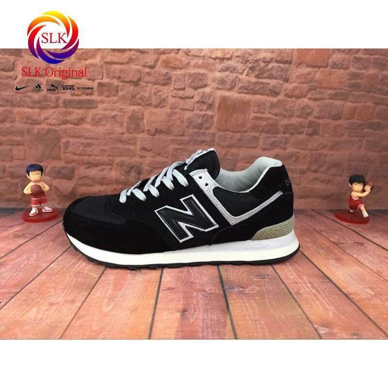 ยี่ห้อไหนดี  แพร่ SLK เดิม★Original NEW BALANCE NB Seiko หมูแปดสีดำรองเท้าผ้าใบแท้