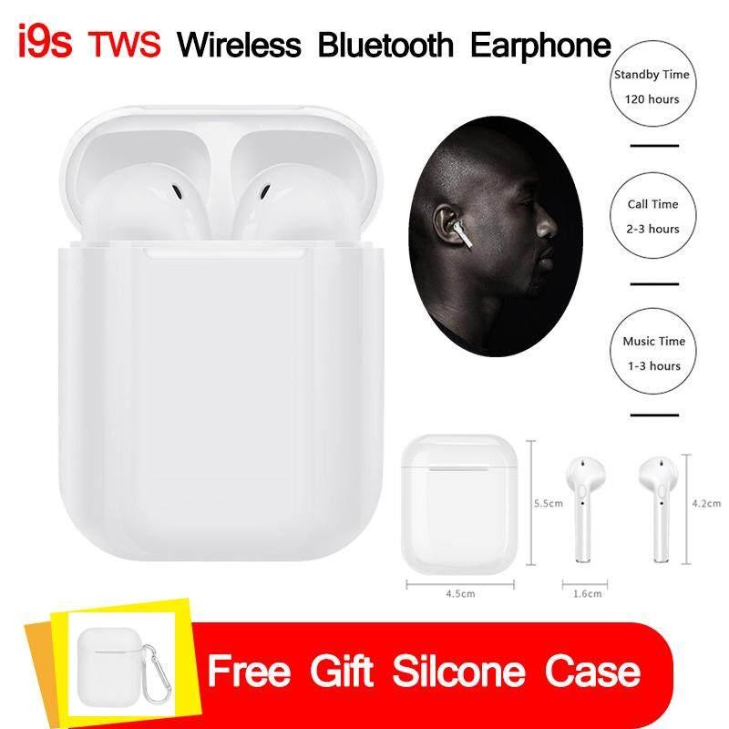 I9s Air Pods TWS MINI หูฟังไร้สายบลูทูธพร้อมกล่องชาร์จหูฟังชุดหูฟังสเตอริโอที่อุดหูหูฟังเอียร์บัดสำหรับเซียวมี่ Android IPhone x 8 7 plus 6 S