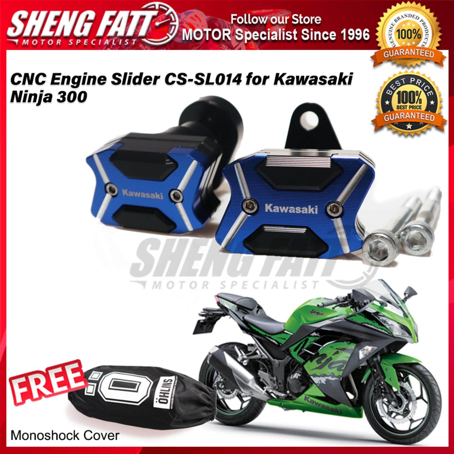 CNC Engine Slider CS-SL014 for Kawasaki Ninja 300 FREE Mono Shock Monoshock Cover
