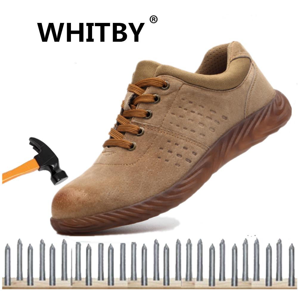 Hình ảnh Thương Hiệu Giày Bảo Hộ Thời Trang Nam Whitby Giày Hở Ngón Đầu Thép Chống Va Đập Và Giày Bảo Hộ Xuyên Thấu Chống Đâm, Giày Làm Việc Hàn Chống Trượt