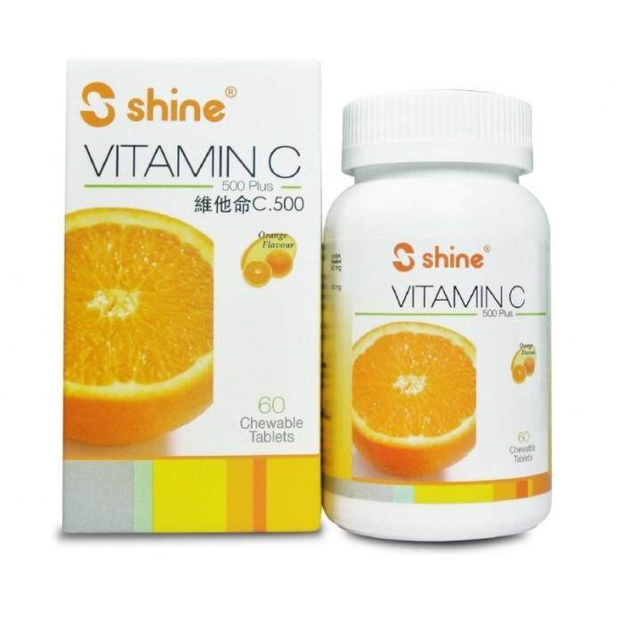 SHINE VITAMIN C 500 PLUS CHEWABLE TABLETS 60'S
