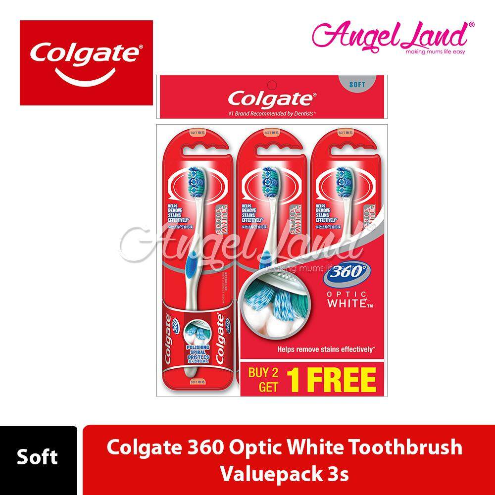 Colgate 360 Optic White Toothbrush Valuepack 3s (Soft)