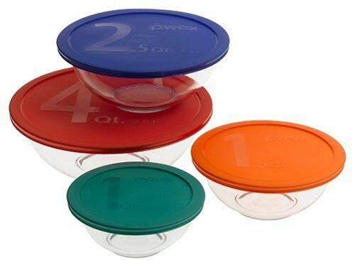 [ iiMONO ] Pyrex Smart Essentials 8-Piece Mixing Bowl Set