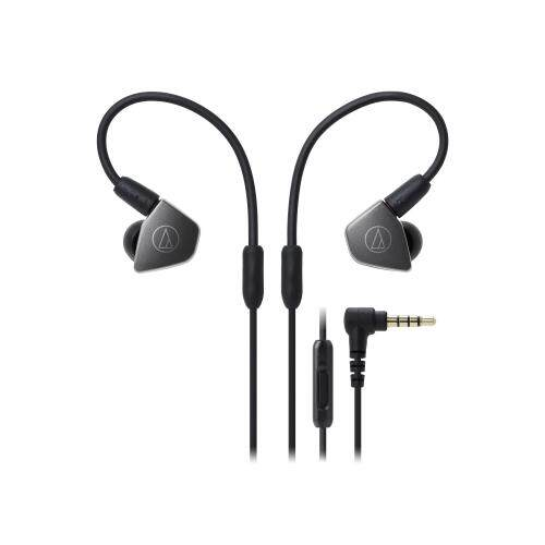 Audio Technica ATH-LS70iS In-Ear Headphones Dual Symphonic Earphones Drivers with In-line Mic and Control Detachable A2DC Connector