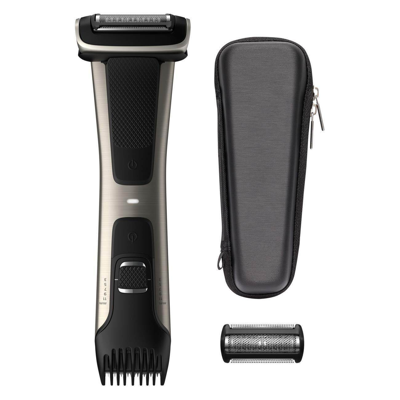 [ iiMONO ] Philips Norelco Bodygroomer BG7040/42 - skin friendly, showerproof, body trimmer and shaver with case and replacement head